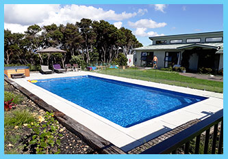 WAIHEKE ISLAND IS A PEACEFUL LOCATION FOR A NICE POOL