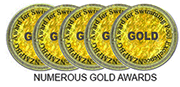 NUMEROUS GOLD AWARDS